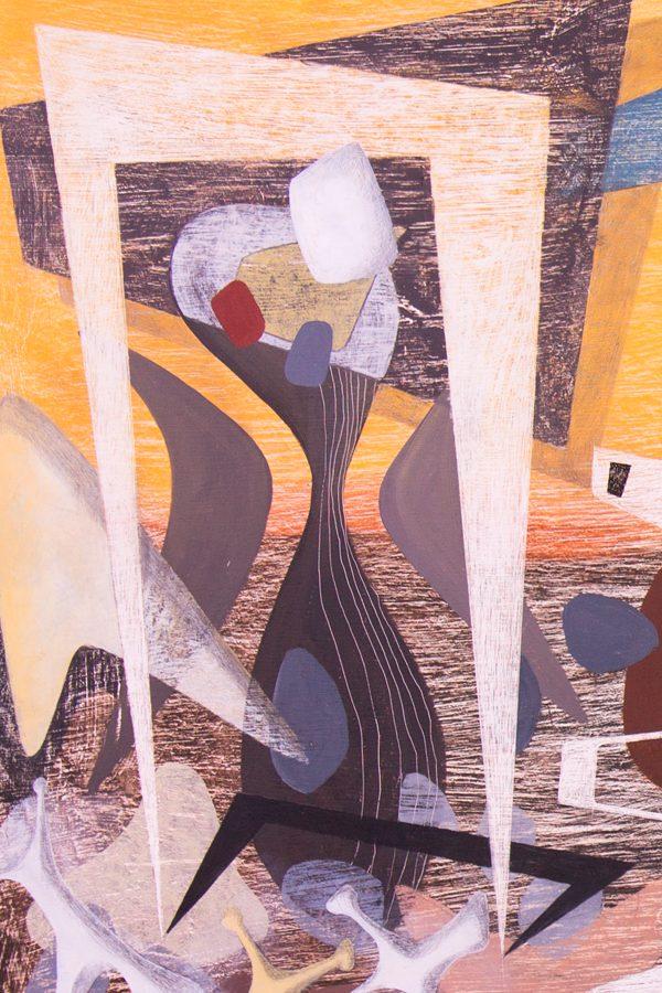 'Untitled (after George Herriman).' 2012. Oil, pencil, ink on gesso. 60cm x 120cm.