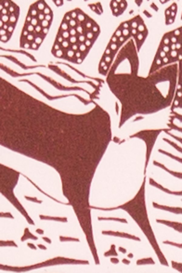 'Fox in the Snow.' 2012. Wood engraving. 10cm x 15cm.