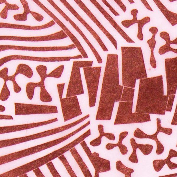 'Pastorale.' 2010. Linocut print. 15cm x 45cm.