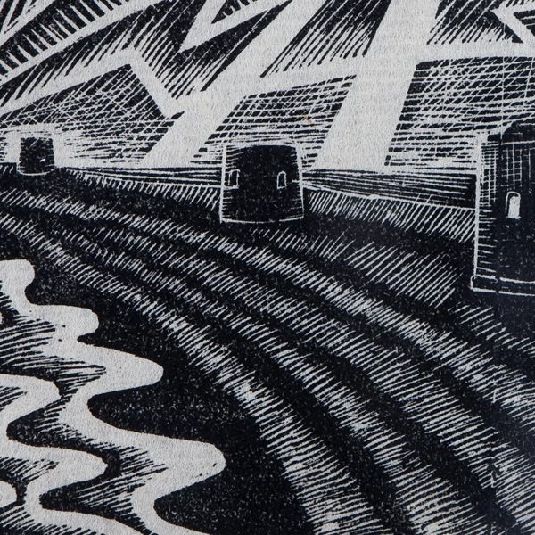 'The Watchers.' 2004. Wood engraving. 7.5cm x 10cm.